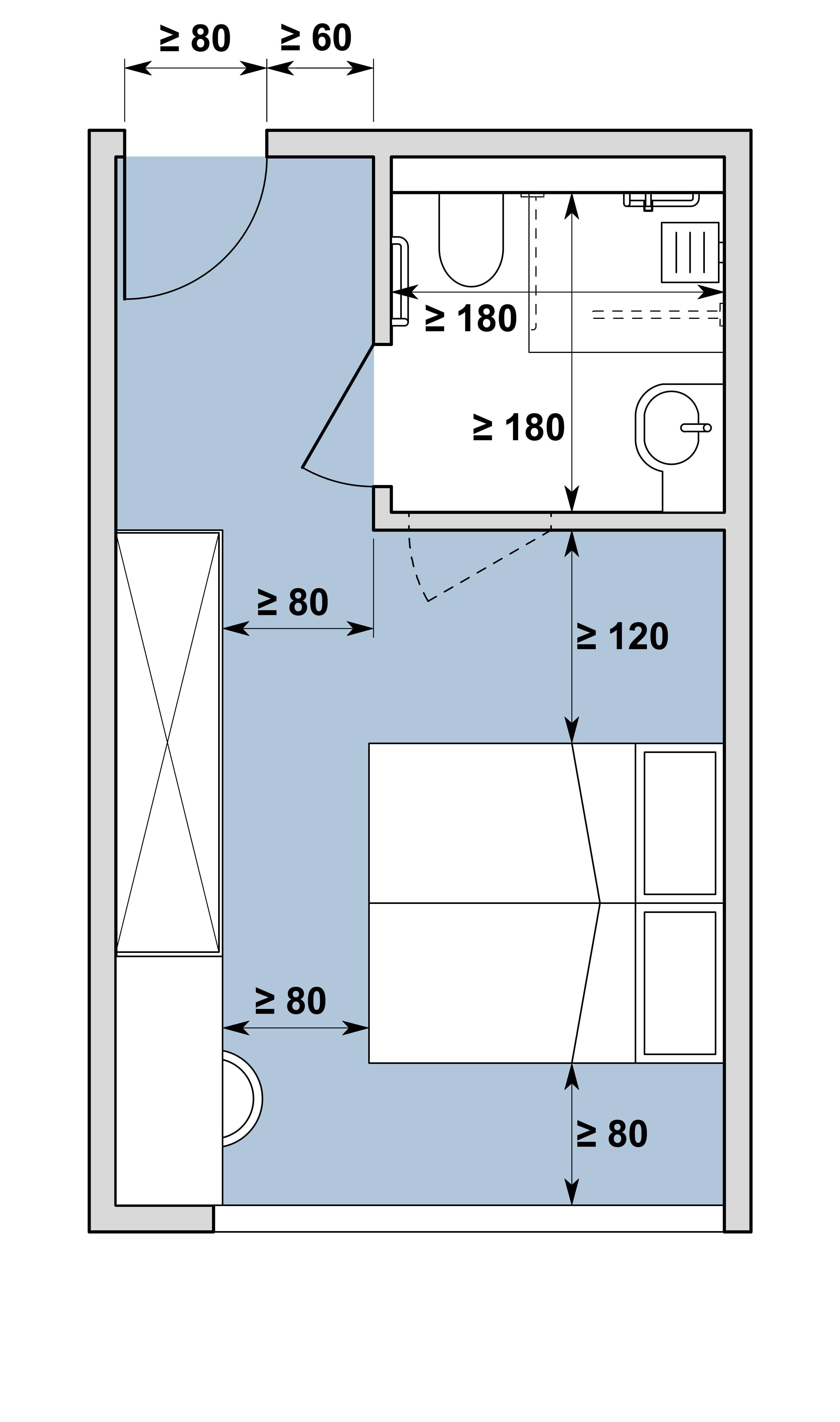 Chambre d'hôtes / Gästezimmer Typ II, variante a