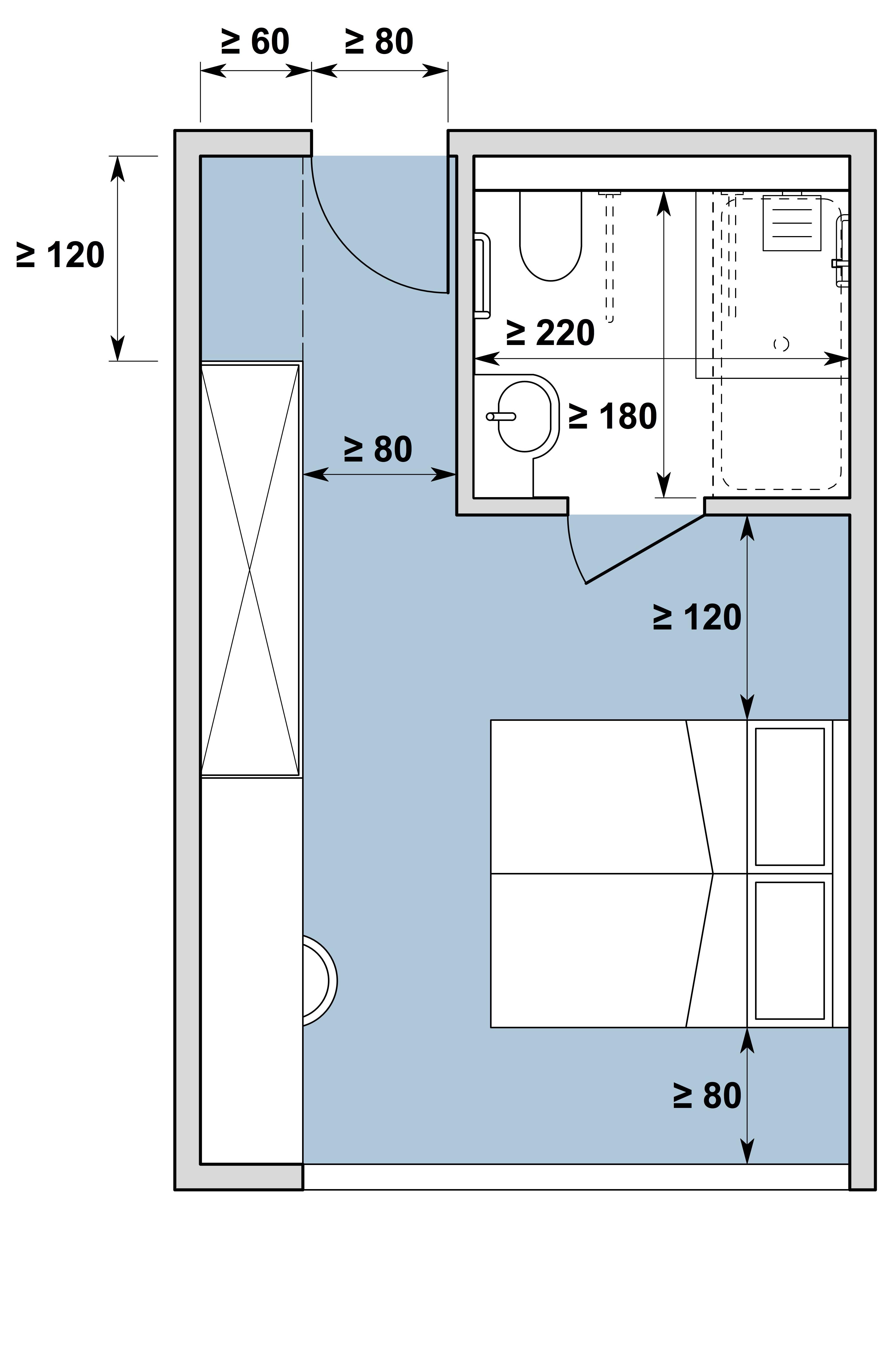 Chambre d'hôtes / Gästezimmer Typ II, variante b
