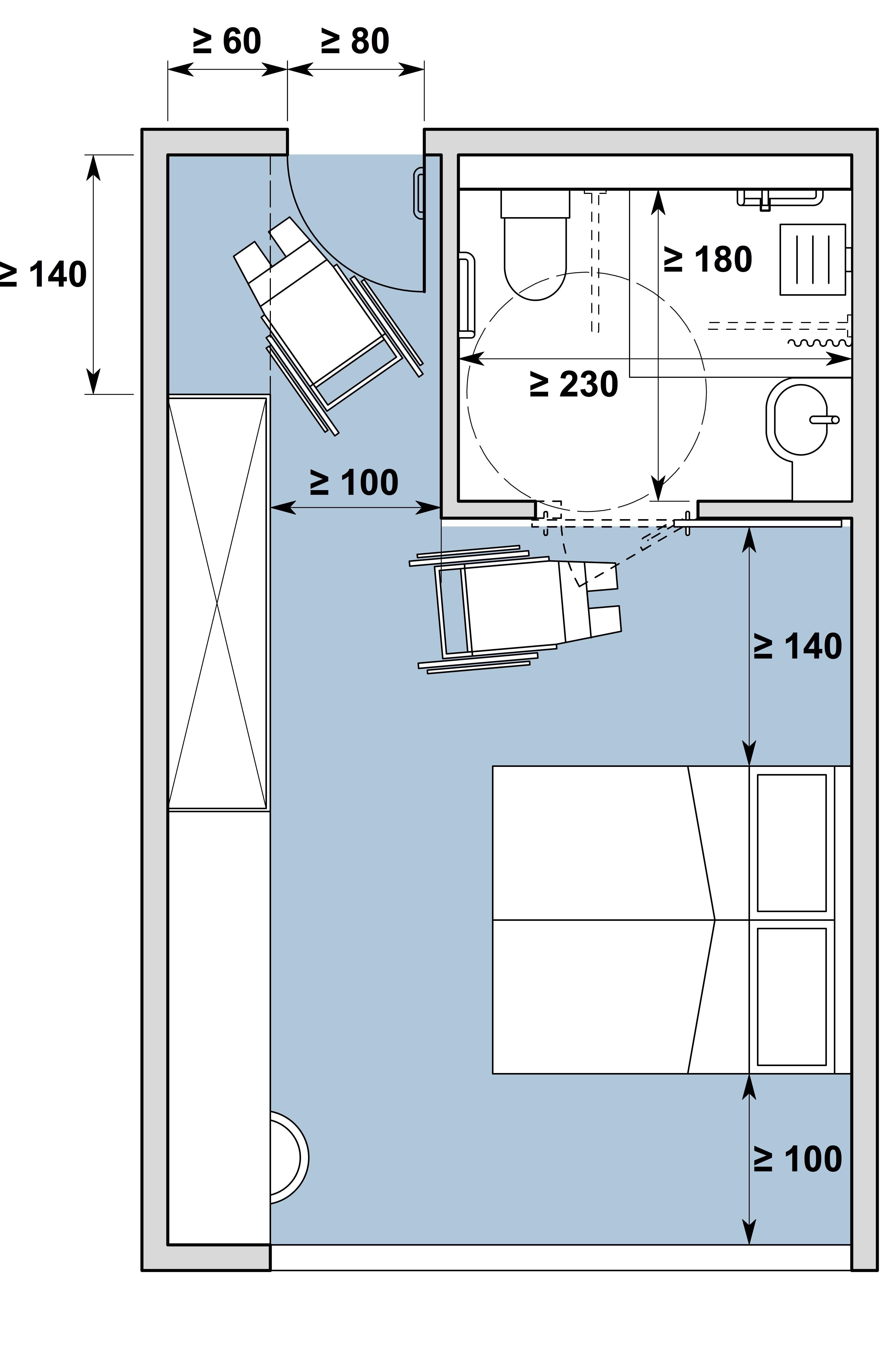 Chambre d'hôtes / Gästezimmer Typ I, variante b